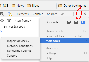 Chrome shortcut to inspect devices – AppStudio Blog
